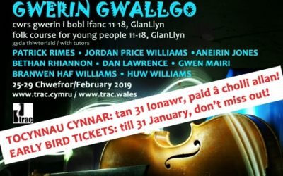 Last chance to get Gwerin Gwallgo early bird tickets