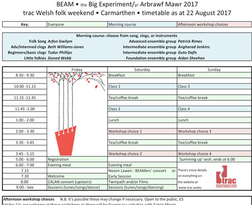 Afternoon workshops at BEAM 2017