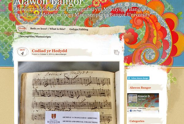 Bangor Melodies – old manuscripts from the archives