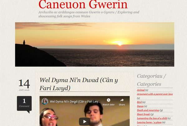 Folk songs from Wales: Ffion's blog